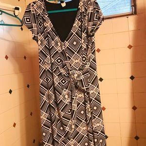 Wrapper-Faux wrap dress size 1X